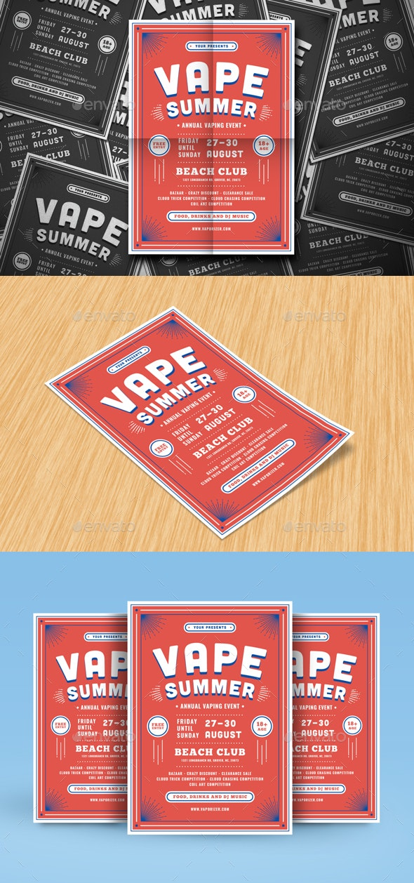 Vape Summer Flyer - Events Flyers