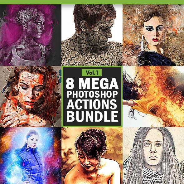 8 Mega Photoshop Actions Bundle - Vol.1