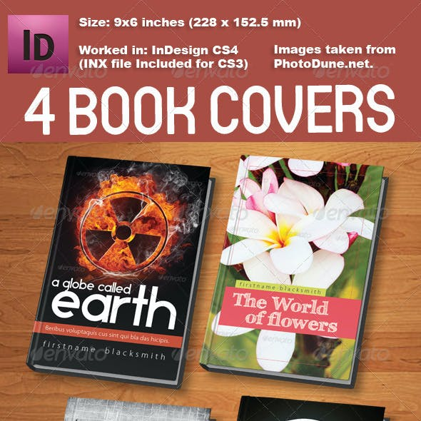 4 Book Cover Templates