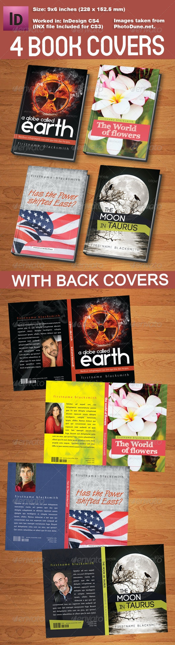 4 Book Cover Templates