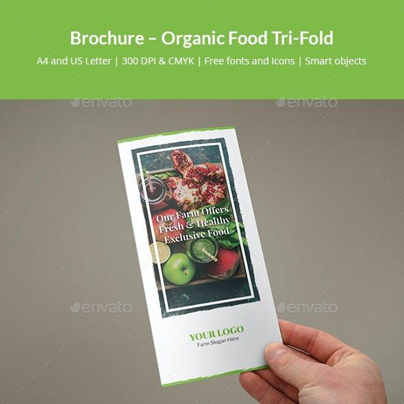 Brochure – Organic Food Tri-Fold