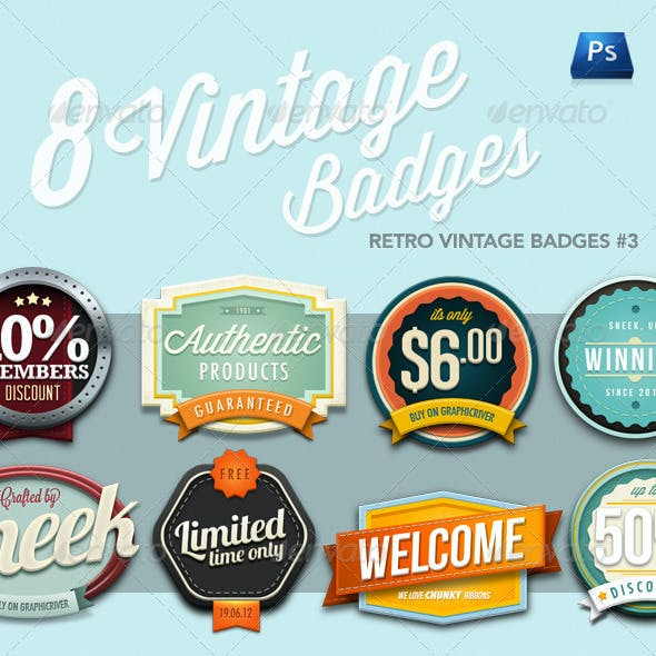 Retro Vintage Badges #3