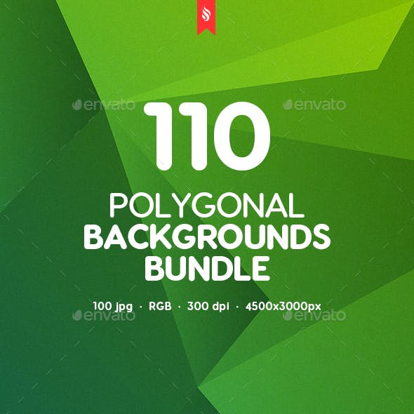 110 Abstract Different Polygonal Backgrounds Bundle