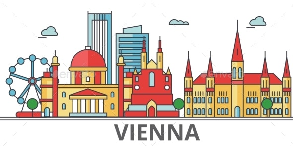 Vienna City Skyline: Buildings, Streets - Buildings Objects