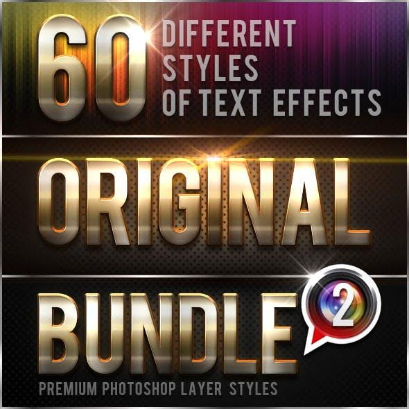 60 Original Photoshop Text Effects Bundle 2