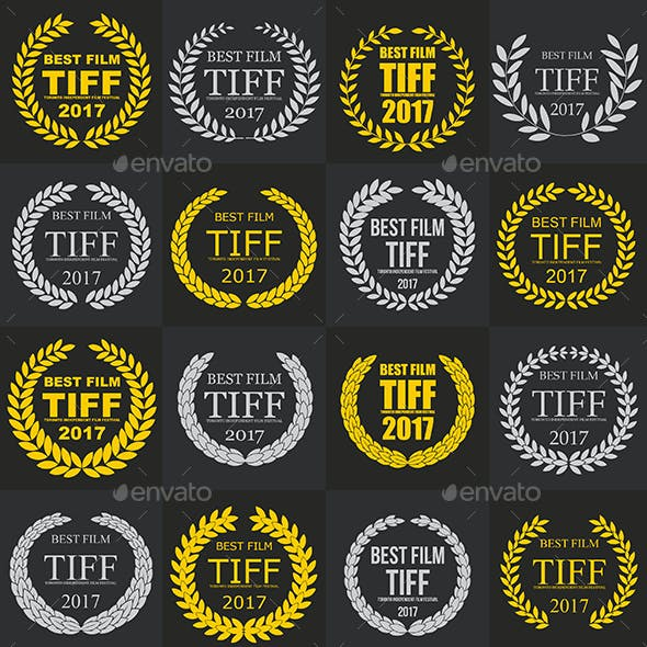 Set of Film Award Laurel Wreaths