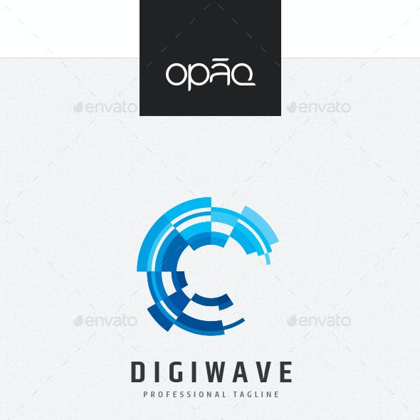 Digital Data Wave Logo