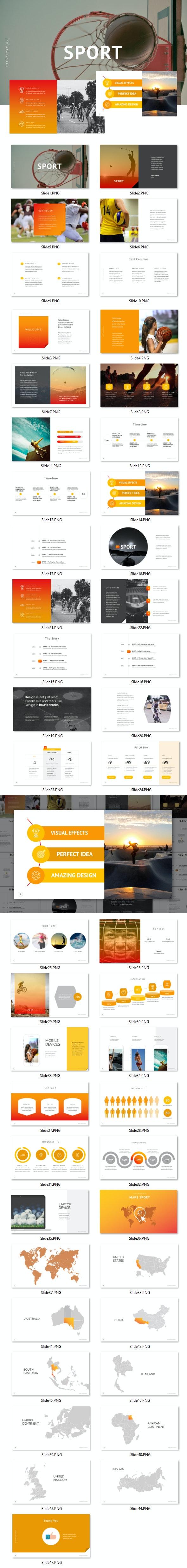 Sport - PowerPoint - PowerPoint Templates Presentation Templates