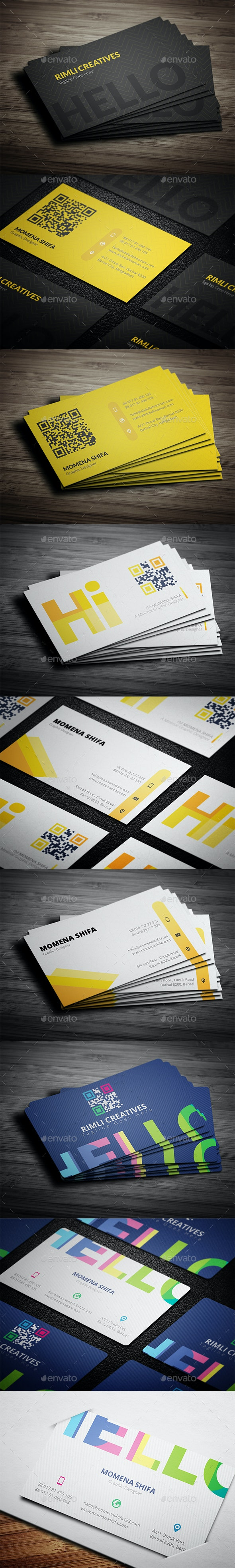 3 in 1 Elegant Business Cards Bundle - Creative Business Cards