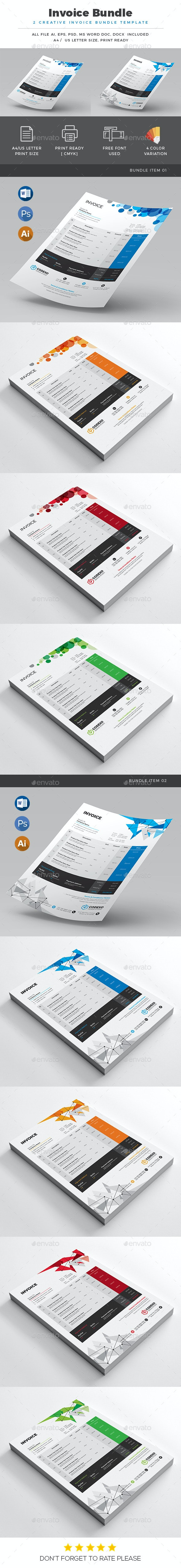 Invoice Bundle - Stationery Print Templates