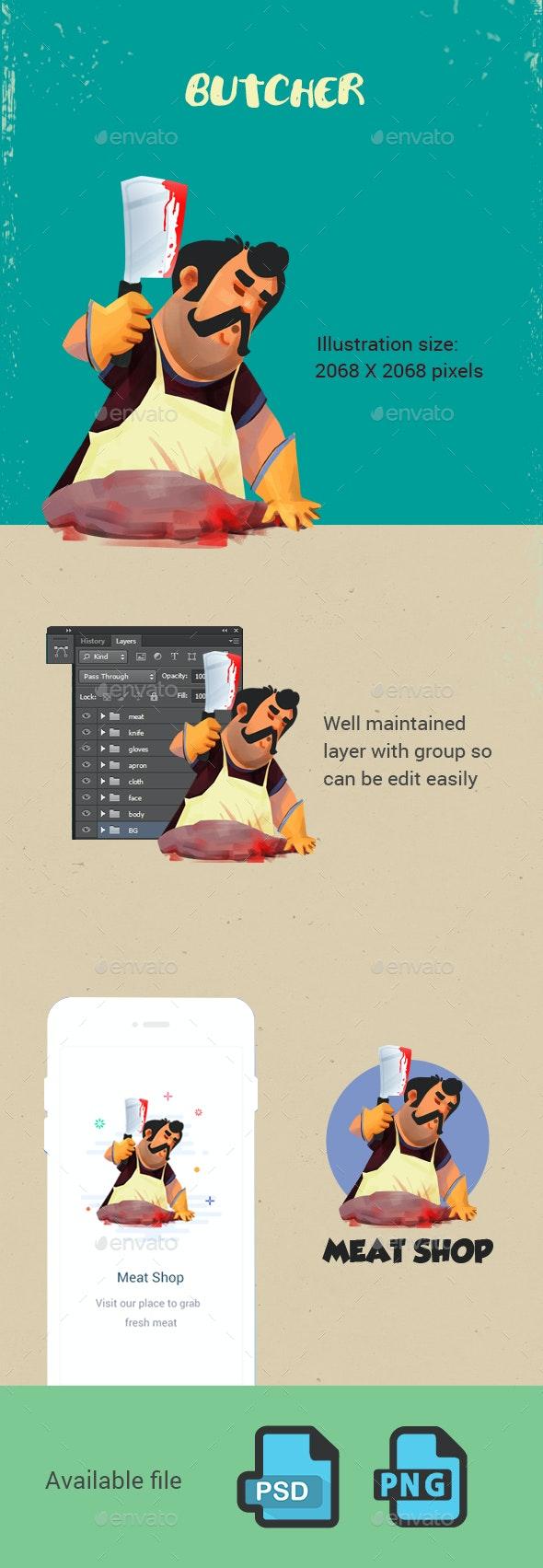 Butcher - Illustrations Graphics