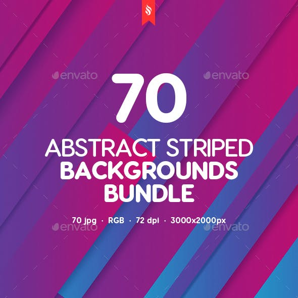 70 Abstract Striped Backgrounds Bundle
