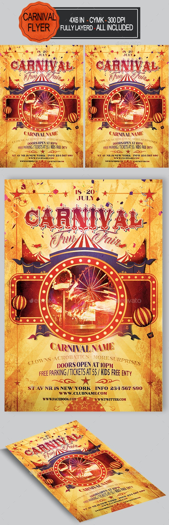 Funfair & Carnival Flyer - Events Flyers