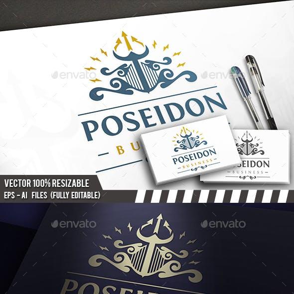 Poseidon Crest Logo