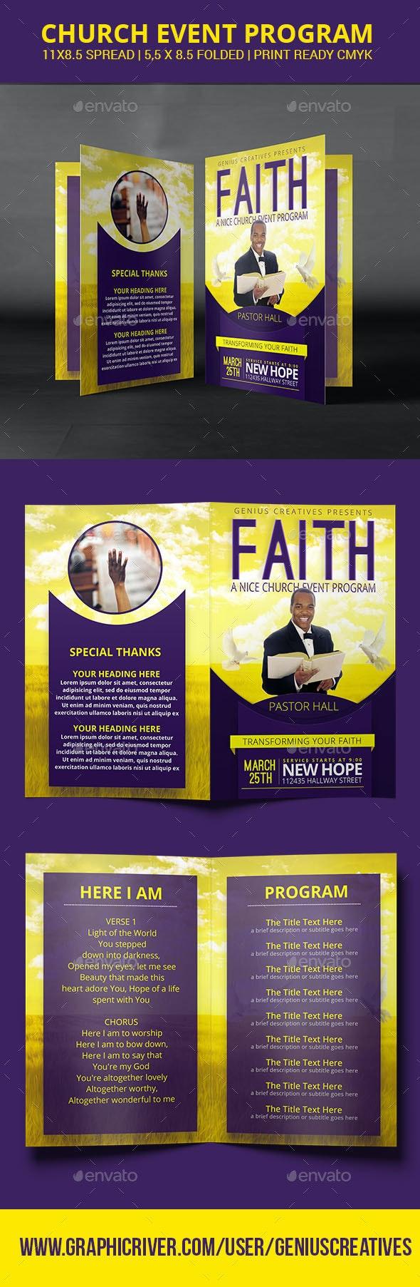 Faith Church Program or Brochure - Informational Brochures