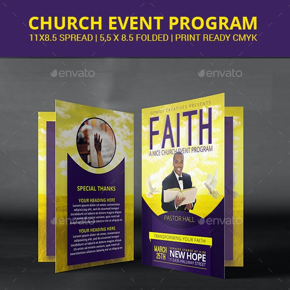 Faith Church Program or Brochure