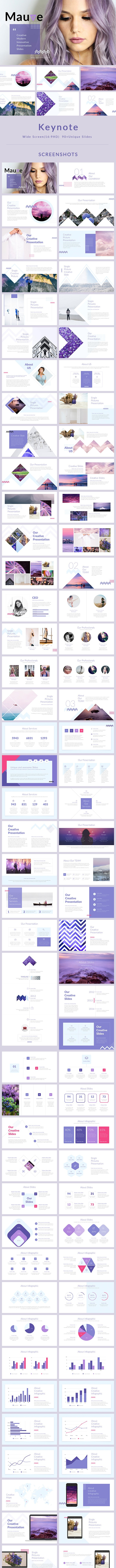 Mauve - Keynote Presentation Template - Creative Keynote Templates