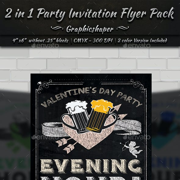 2 in 1 Party Invitation Flyer Bundle