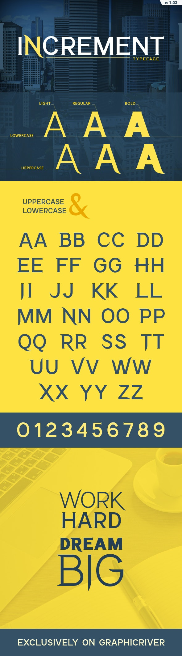 Increment Font - Miscellaneous Serif