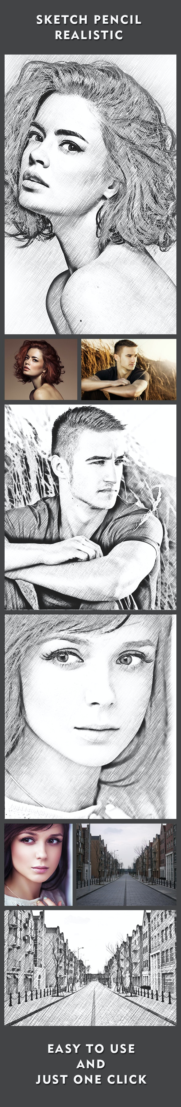 Sketch Pencil Realistic - Photo Effects Actions