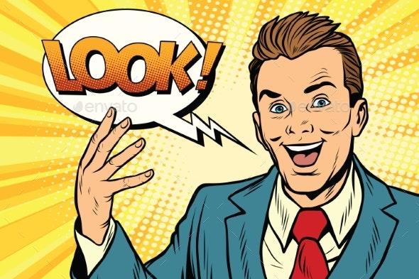 Active Joyful Speaker Businessman Look - People Characters