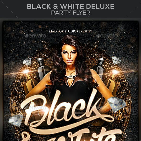 Black & White Deluxe Party Flyer