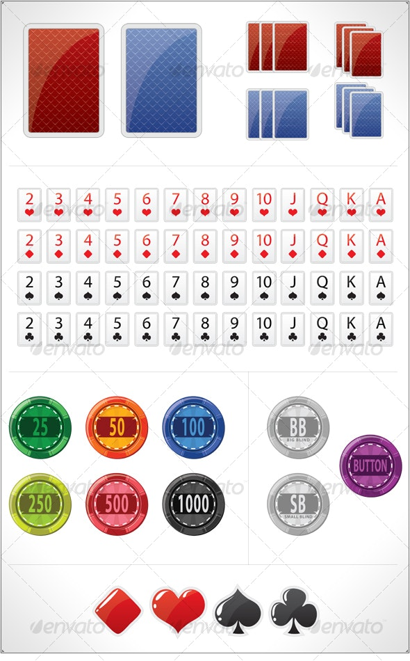 Poker items collection - Sports/Activity Conceptual