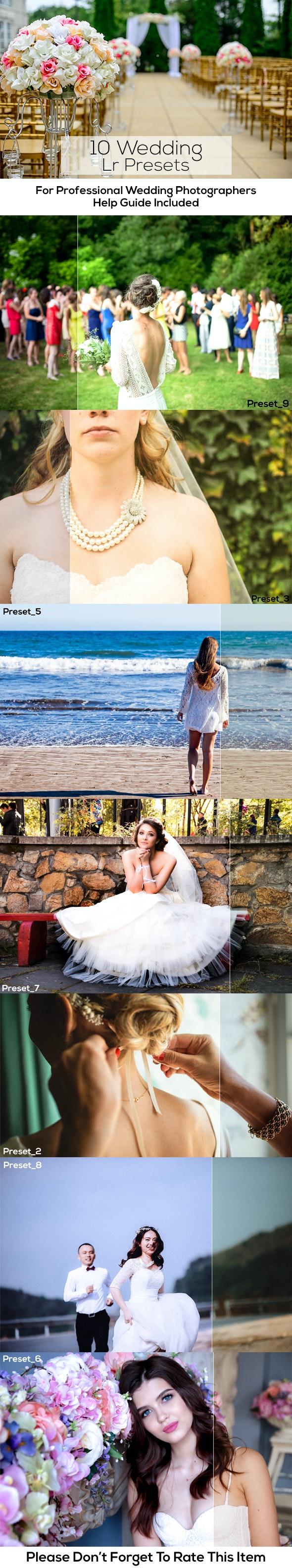 10 Wedding Lr Presets - Wedding Lightroom Presets