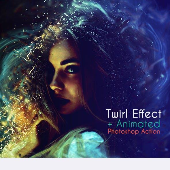 Twirl Effect+Animated Photoshop Action