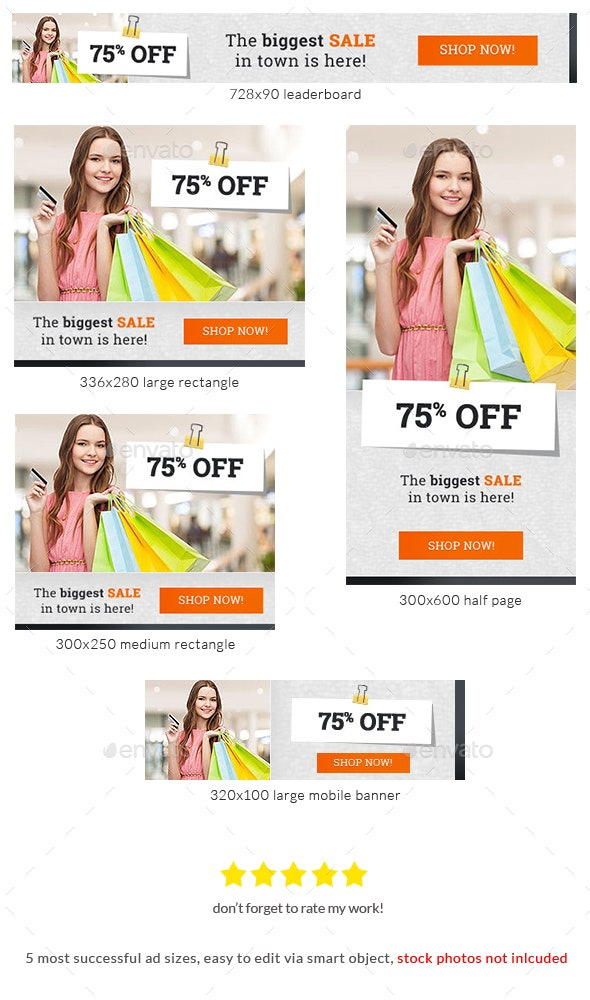 Buy Our Product Web Banner Template Ad - Banners & Ads Web Elements
