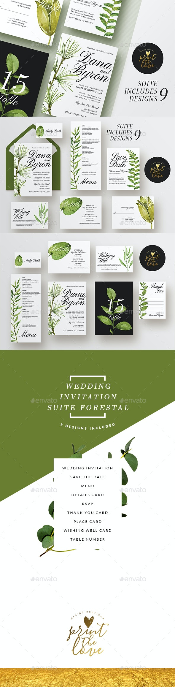 Wedding Invitation Suite - Forestal - Weddings Cards & Invites