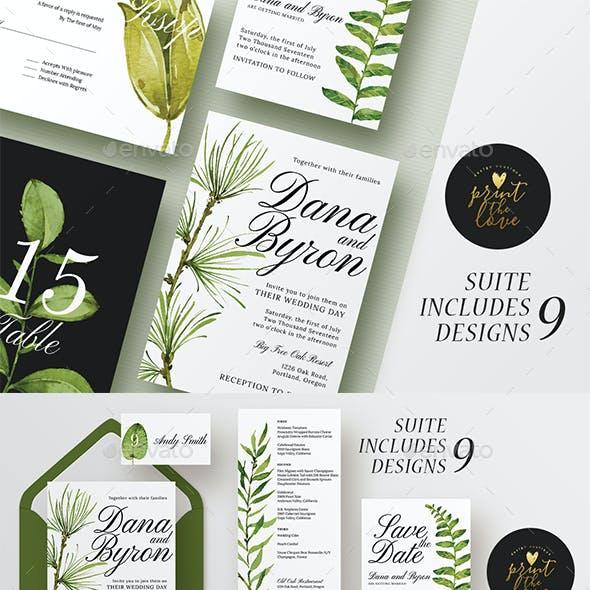 Wedding Invitation Suite - Forestal