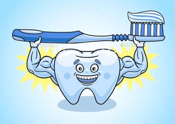 Tooth Is in Excellent Condition - Health/Medicine Conceptual
