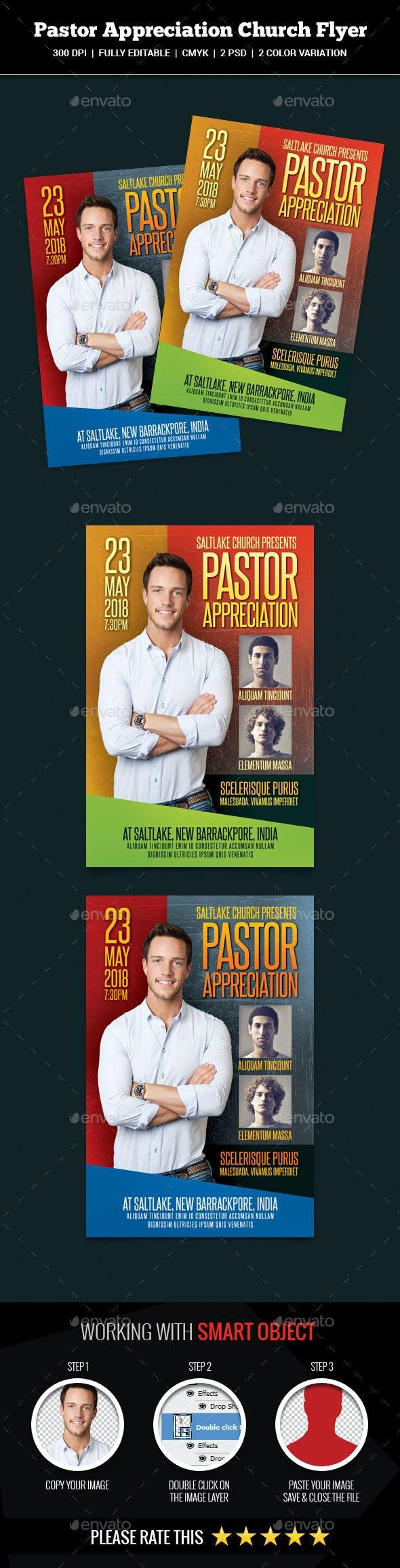 Pastor Appreciation Church Flyer - Church Flyers