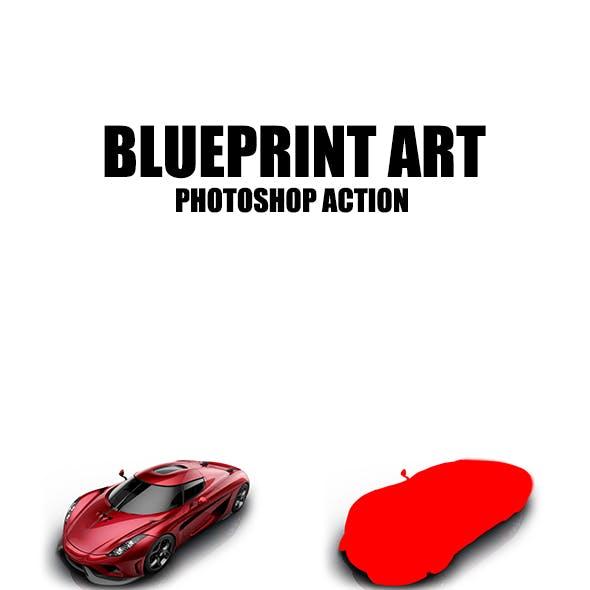 Blueprint Art - Photoshop Action