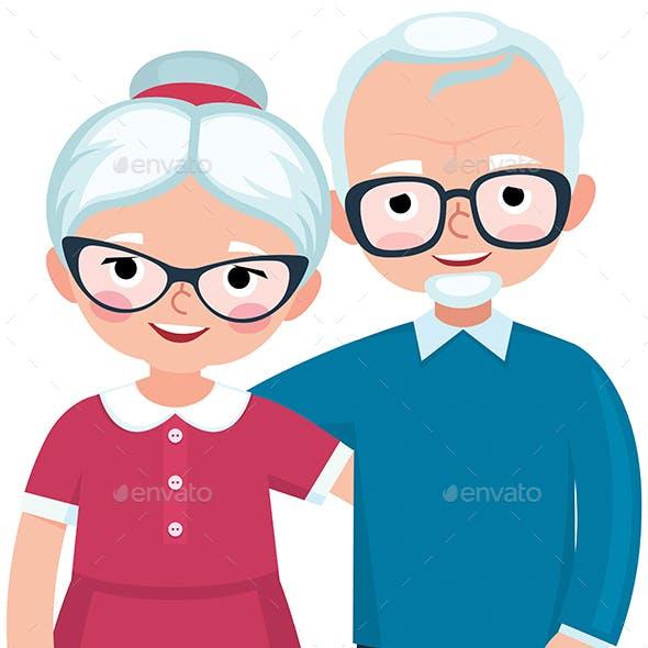 Elderly Loving Couple