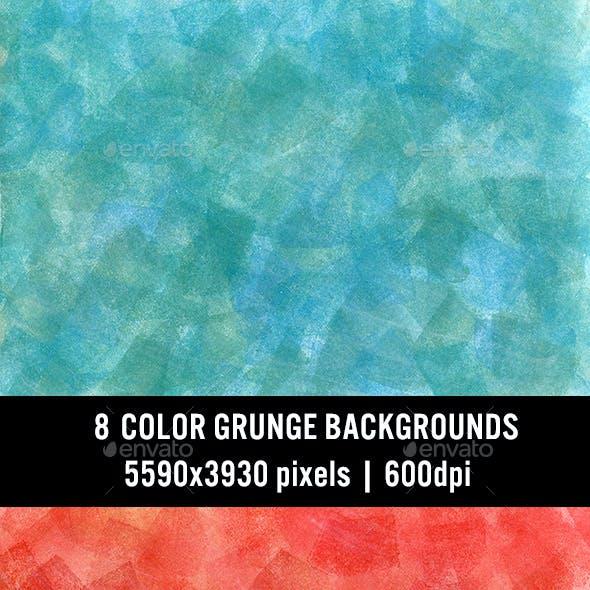 8 Color Grunge Backgrounds
