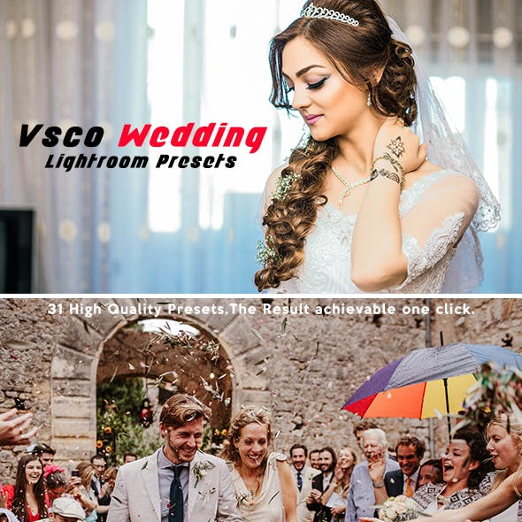 31 Vsco Wedding  Lightroom Presets