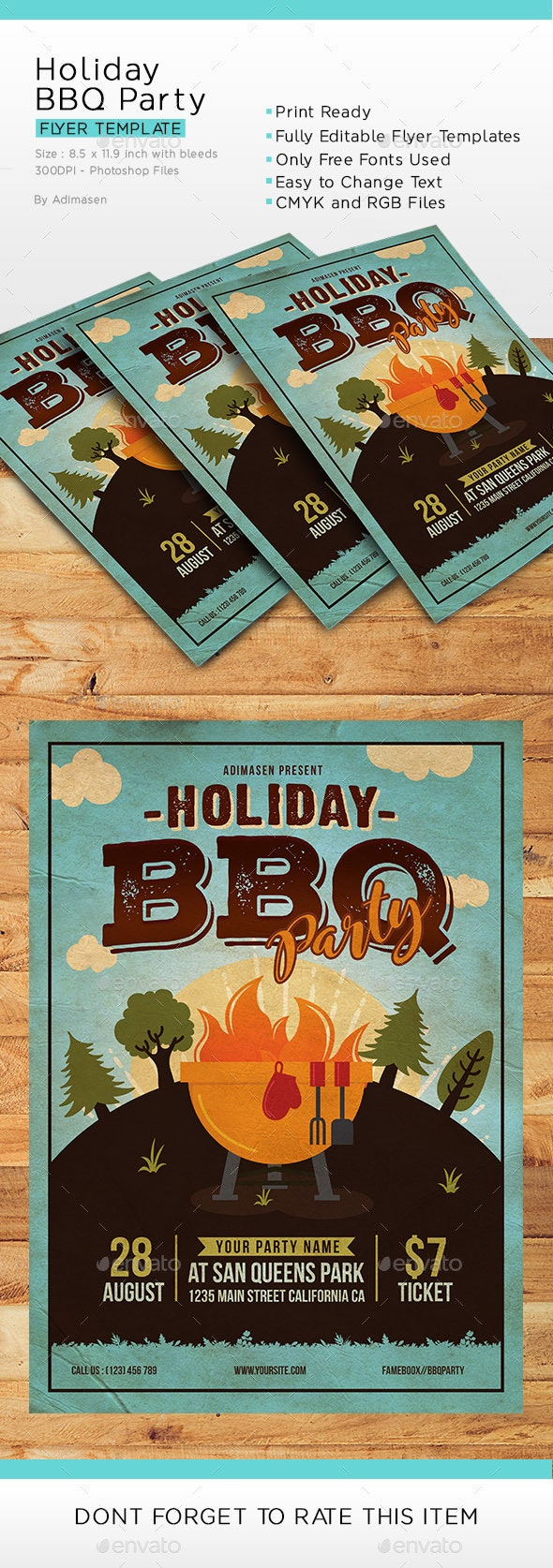BBQ Party - Events Flyers