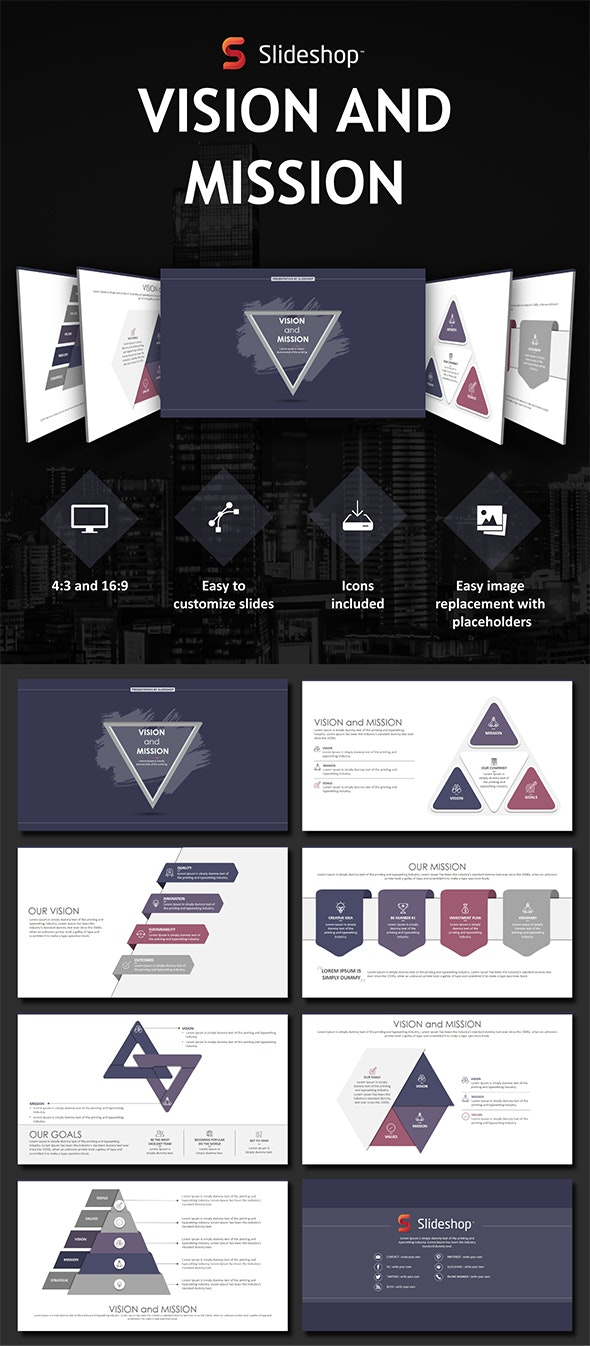 Vision and Mission - PowerPoint Templates Presentation Templates