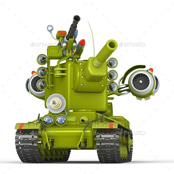 Cartoon Super Tank - Technology 3D Renders