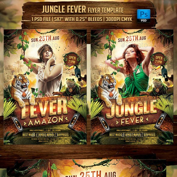 Jungle Fever Flyer Template