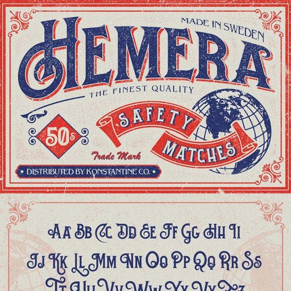 Hemera Vintage Branding font
