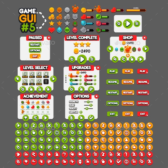 Game GUI #5 - User Interfaces Game Assets