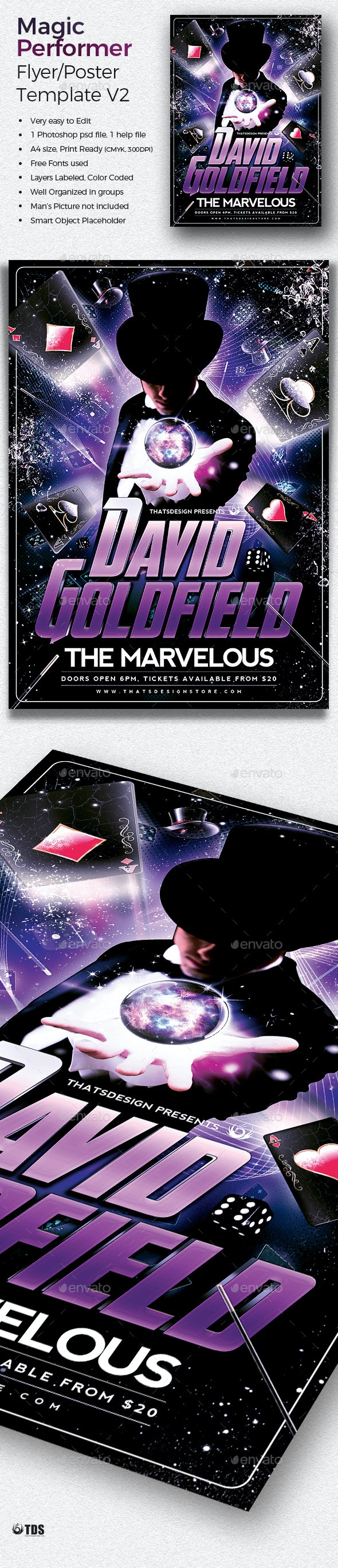 Magic Performer Flyer Template V2 - Concerts Events