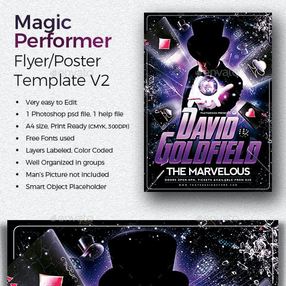Magic Performer Flyer Template V2
