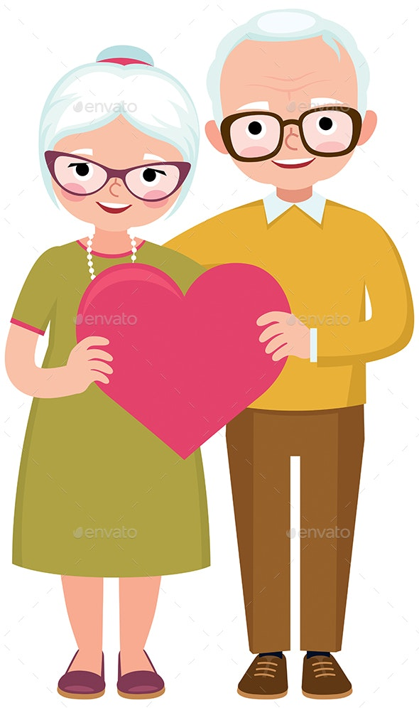 Senior Married Couple - People Characters