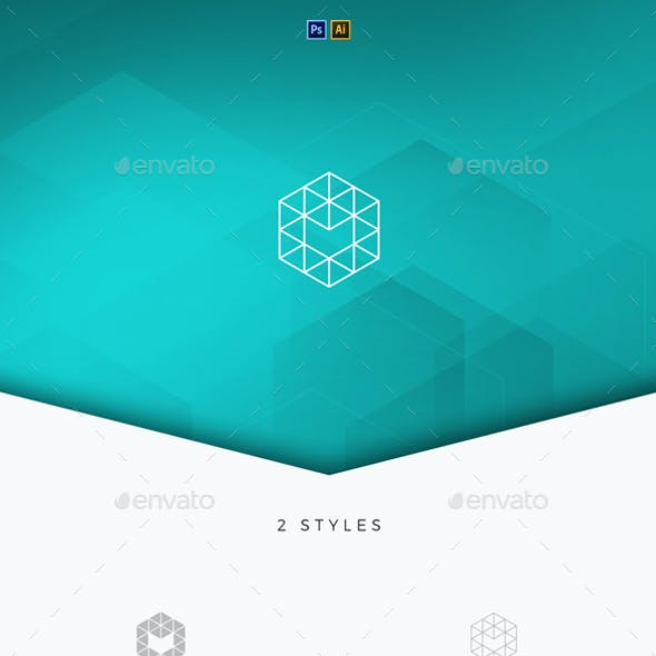 Hexagon Tech Logo Template