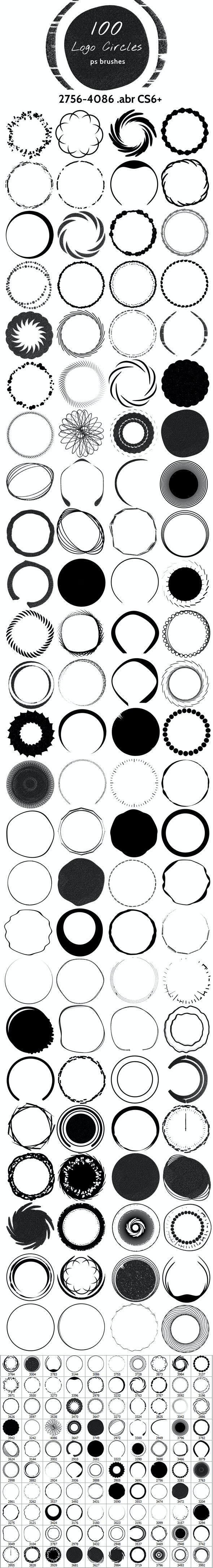 Logo Circles Brushes - Artistic Brushes