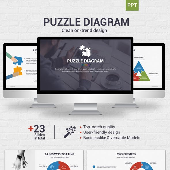 Puzzle Diagrams Graphics, Designs & Template from GraphicRiver